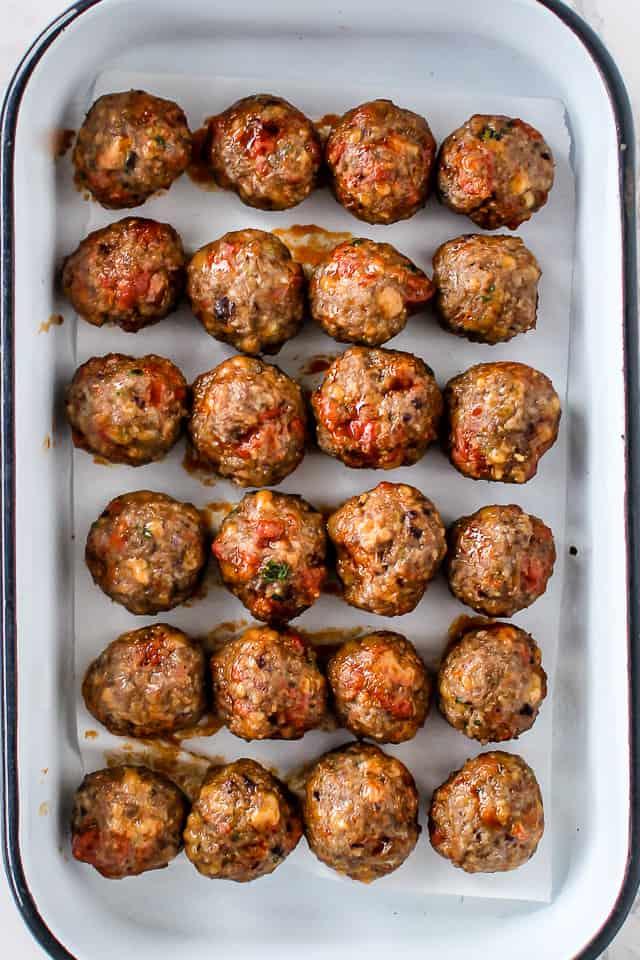 Chorizo Meatballs – bagt i ovnen