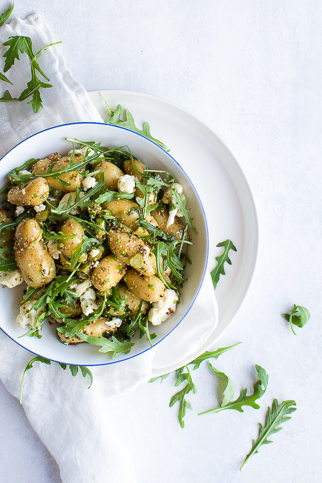 Grøn kartoffelsalat - opskrift på kartoffelsalat