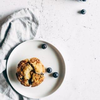 blåbærmuffins-muffins med frugt-opskrift