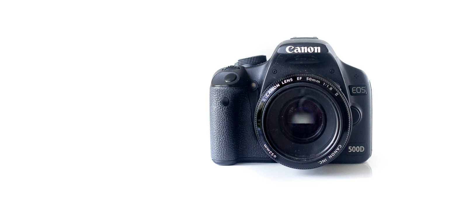canon 500D kamera + 50 mm objektiv