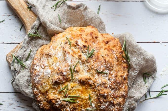 soda bread - brød med cheddar og rosmarin - madbrød