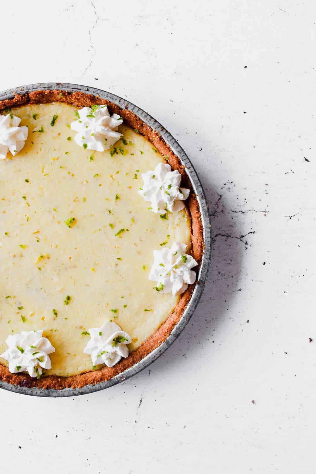 Key Lime Pie - opskrift på kage med lime