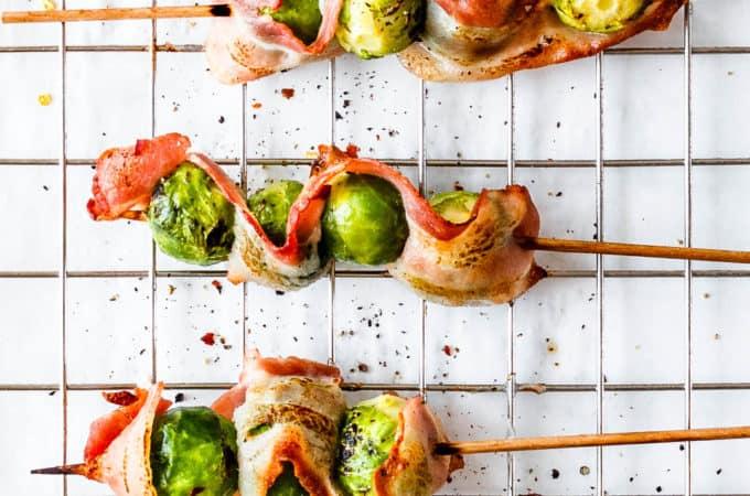 Rosenkål med bacon - rosenkål i ovn