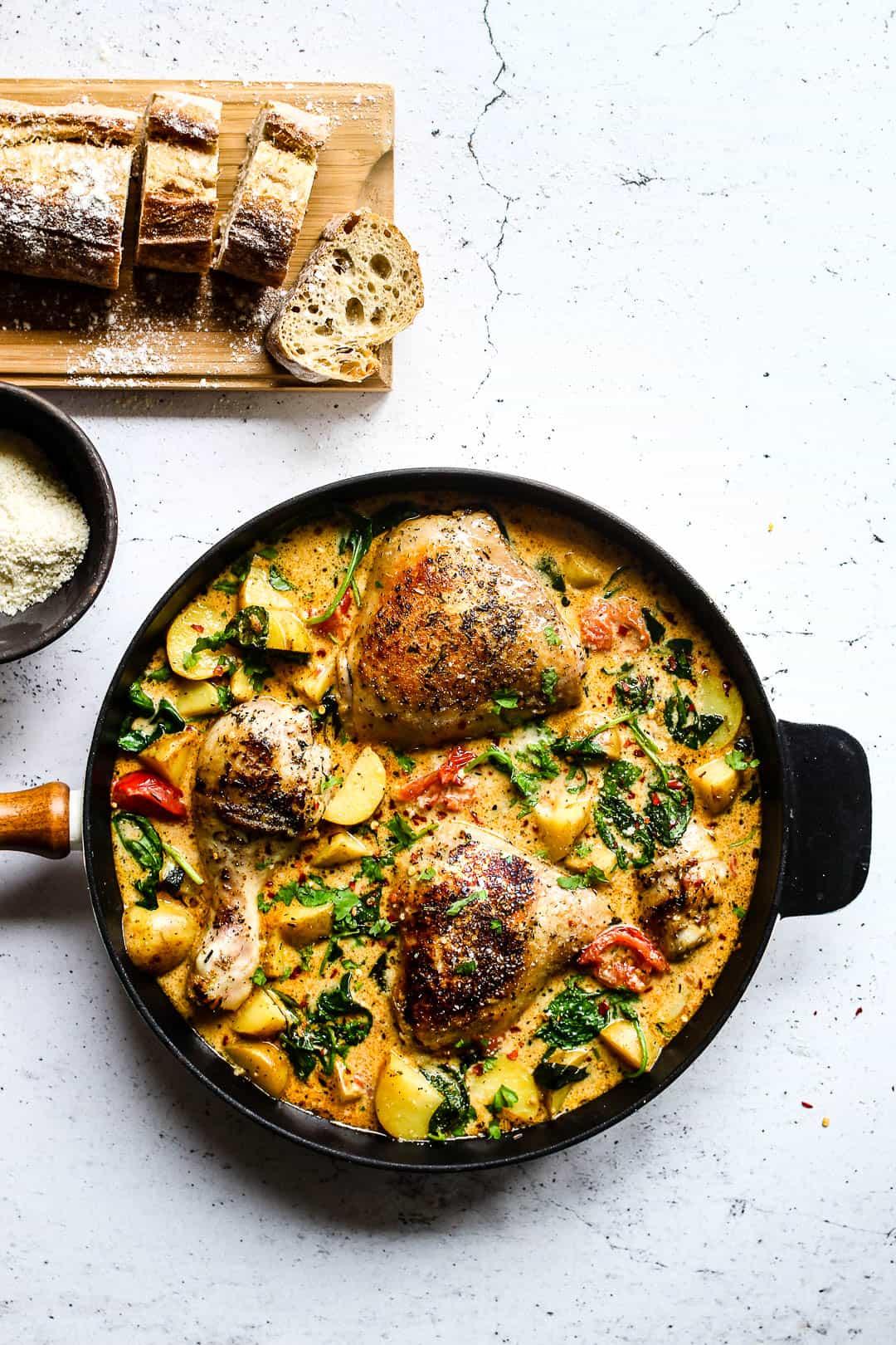 opskrift med kylling og kartofler