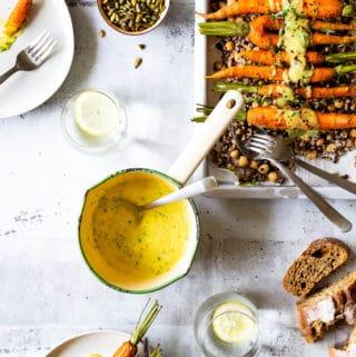 Bearnaise sauce - bagte gulerødder
