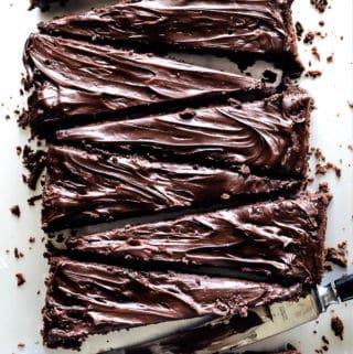 Guinness Brownies med chokoladeganache - opskrift på brownie