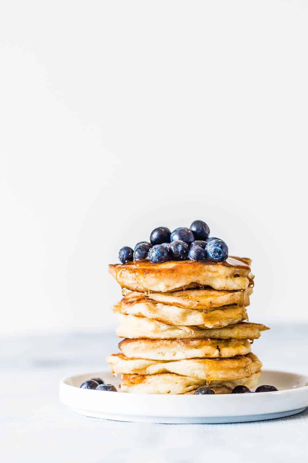 Amerikanske pandekager – tykke og luftige brunch pandekager