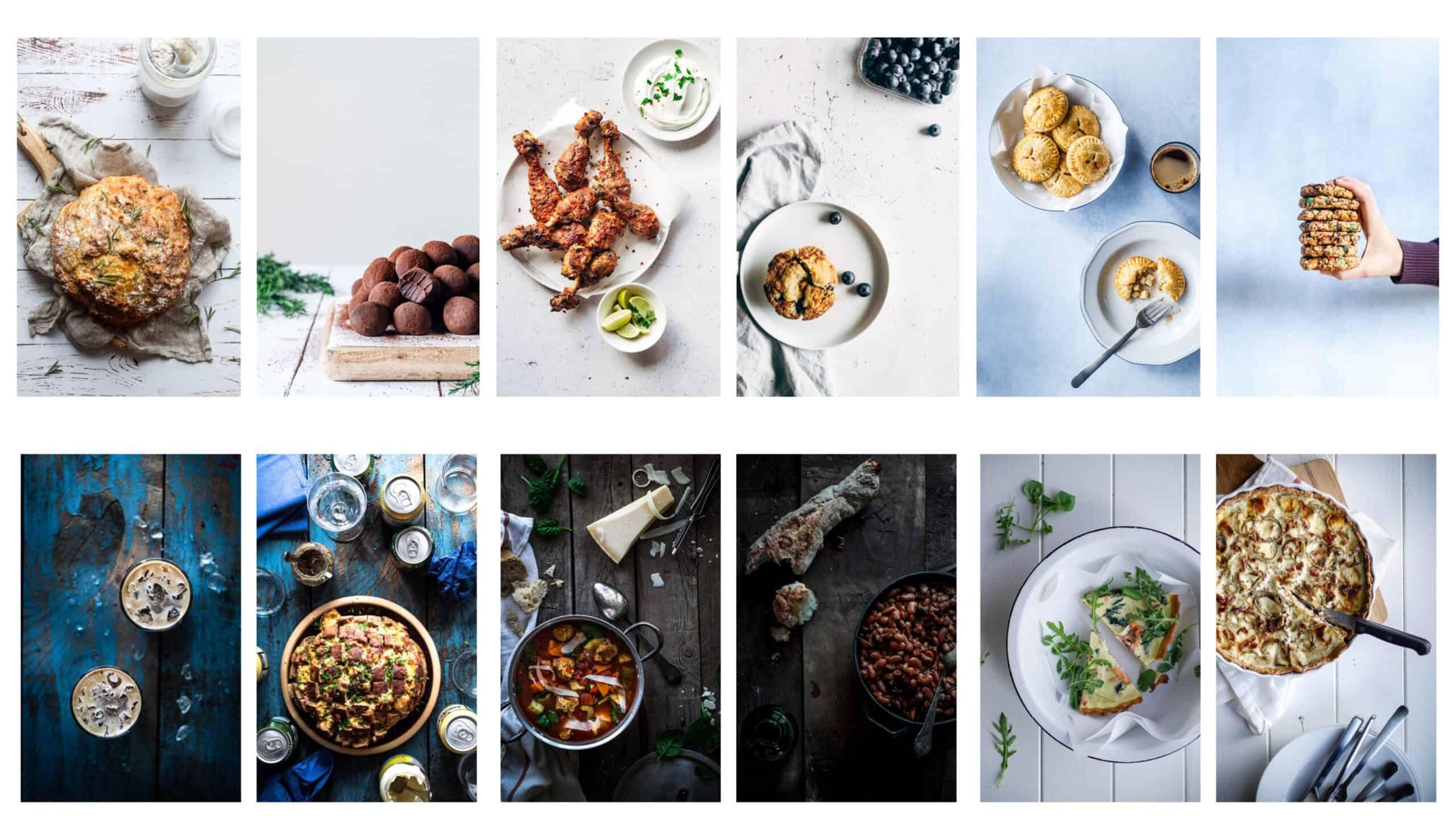 baggrunde til madbilleder
