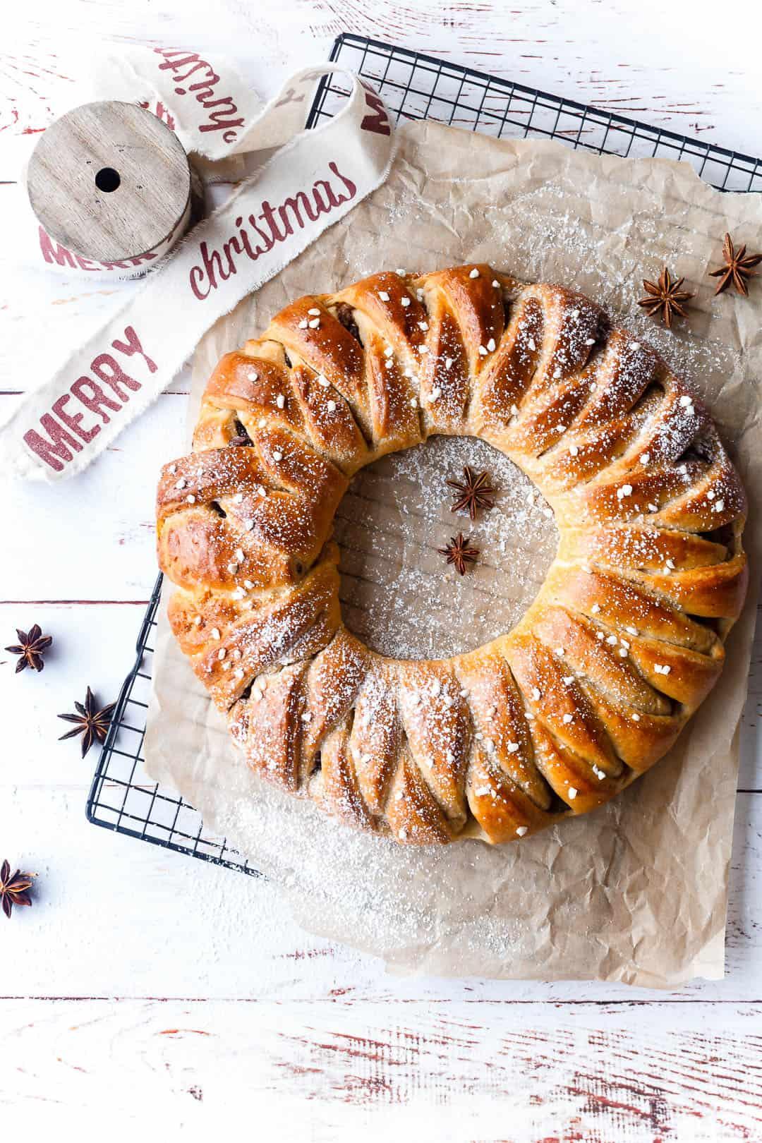 Julekrans - kager til jul