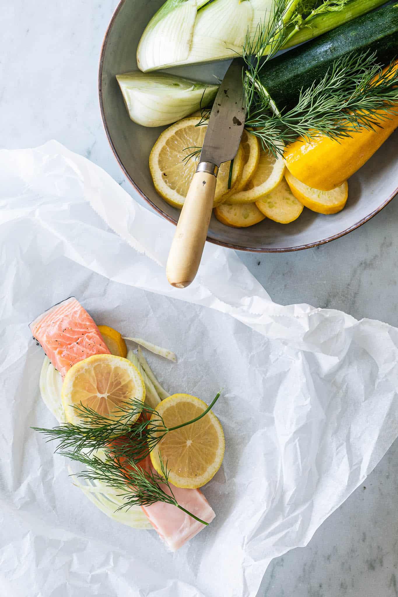Laks en papilotte - laks i pakker i ovn